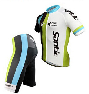 High quality 100% Brand Santic men short sleeve Cycling jersey and shorts suit outdoor bicycle jersey cycling clothing <br><br>Aliexpress