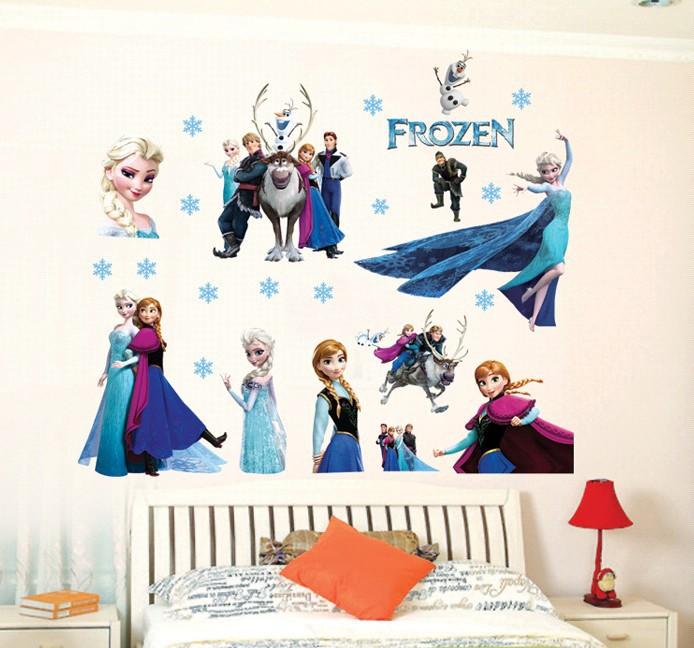stickers reine des neiges decor wall stickers girl 39 s room. Black Bedroom Furniture Sets. Home Design Ideas