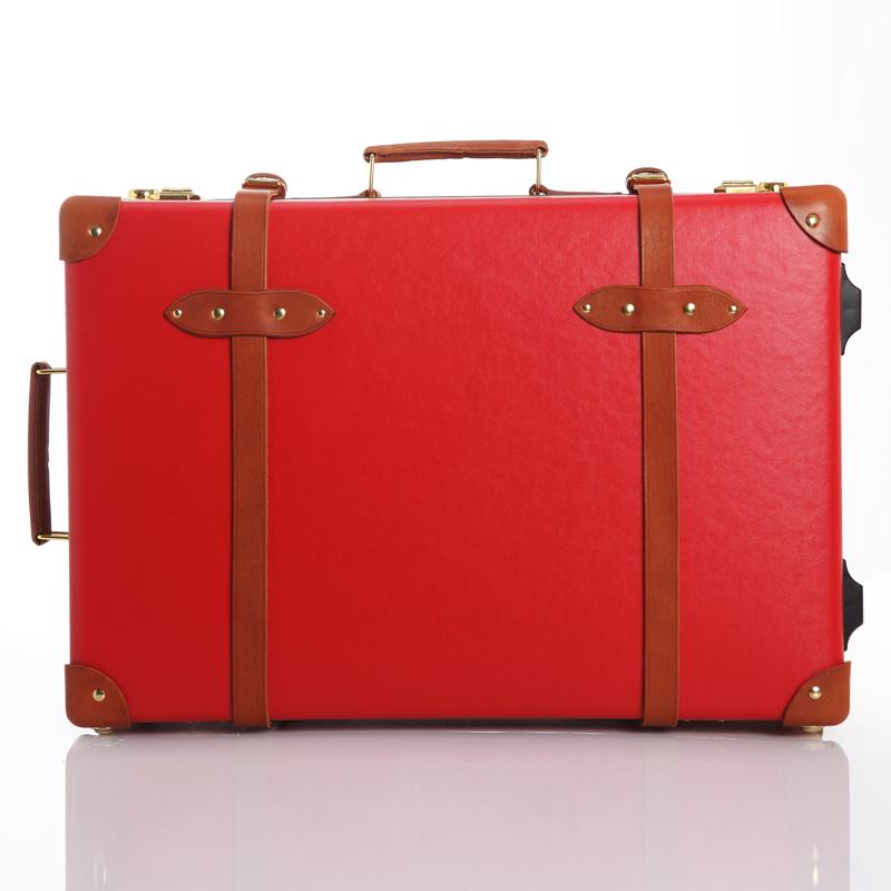 Red Vintage Suitcase Eddas Red Vintage Travel Bag
