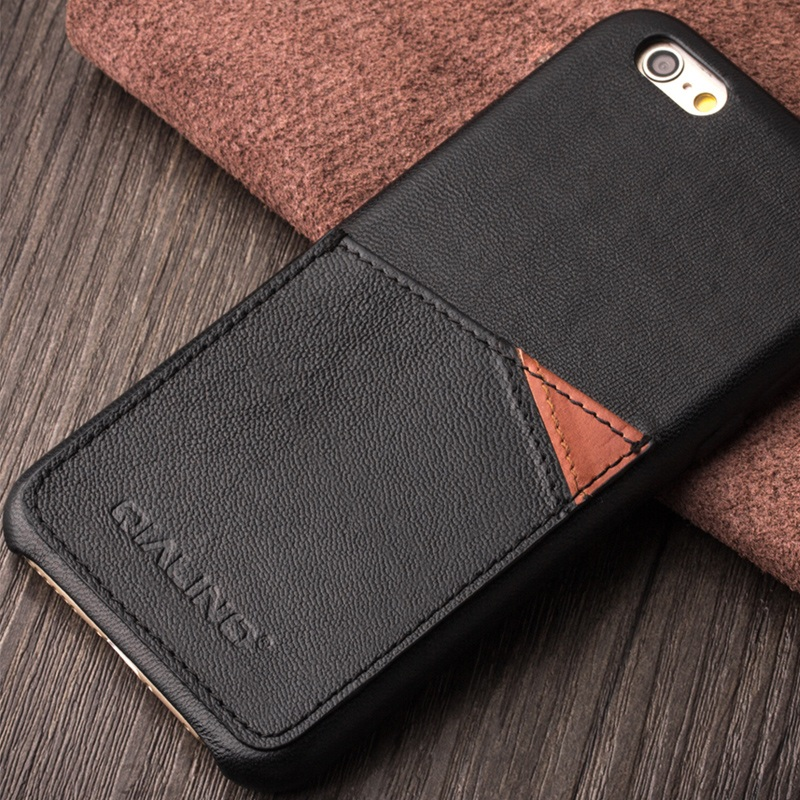 QIALINO for iPhone 6s Plus/6 Plus 5.5 inch Luxury Bag Handmade Genuine Leather Back Cover Phone Case Shell for iPhone 6s Plus