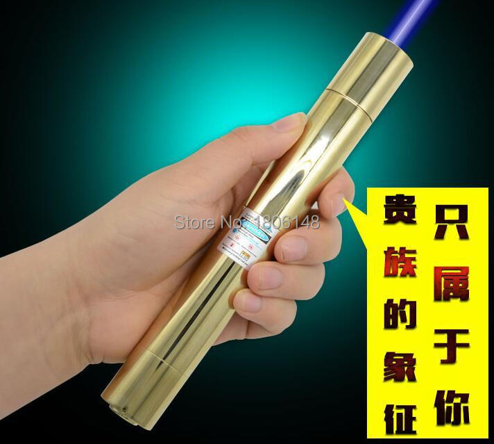 Фотография high power 8000mw 8w 450nm blue laser pointers SOS camping signal lamp burning match/dry wood/candle/black/cigarettes+5 caps