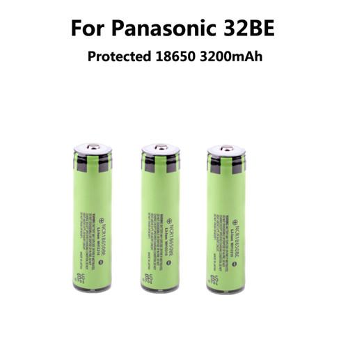 3unids/lote nueva Original del 18650 NCR18650BE recargable Li ion 3.7 V 3200 mAh para Panasonic + pcb + Free(China (Mainland))