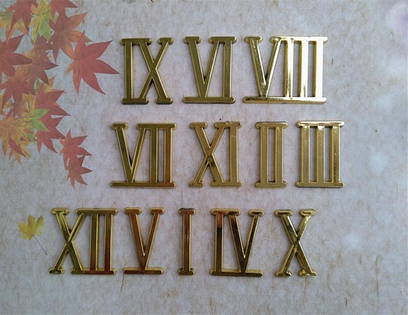 Горячие 20 шт 2 см золотые римские цифры для кварцевых часов аксессуары часы clock numbers