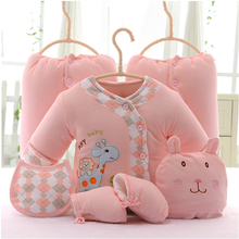 0-6 months warm material 7 piece set for girls lovely newborn infant baby clothing set vetement fille girl baby BC 3311(China (Mainland))