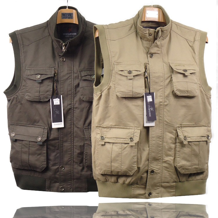 Outdoor Men's Jacket Waistcoats Mesh Fly Fishing & Photography Vest Outdoor Sports Fishing Vest Jackets Clothes