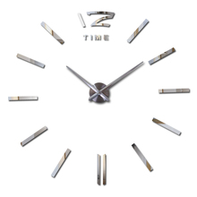 2016 new arrival Quartz clocks Brief watches 3d real big wall clock rushed mirror stickers diy living room DISCOUNTS Still life(China (Mainland))