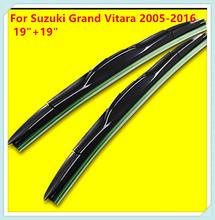 "Buy 3 Section Rubber Windscreen Wipers Suzuki Grand Vitara 2005 2006 2007 2008 2009 2010 2011 2012 2013 2014 2015 2016 19""+19"" for $17.98 in AliExpress store"