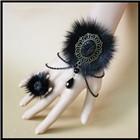 2015 году новый дизайн бренда ювелирные украшения готический женский ручной браслеты & браслеты для женщин Винтаж невесты запястья Кружева Браслеты набора