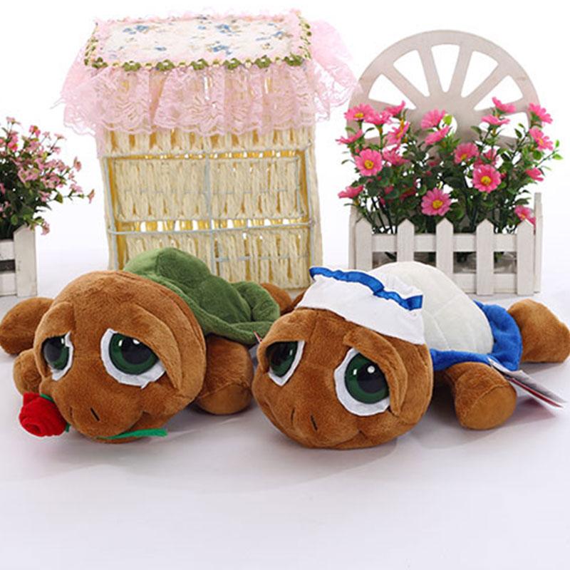 Sales Small Cute Soft Plush Turtles 27cm Stuffed Toys for Kids Christmas Gift Bride Nurse Sailor King Rose Tortoise Many Styles