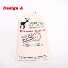 Bolsas de regalo 2015 nuevo 10 unids/lote gran lienzo saco de Color Elk orgánico pesado rojo de la lona bolso de lazo W085(China (Mainland))