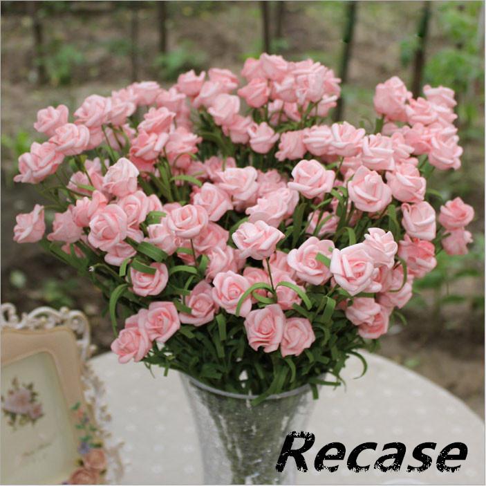 HOT SALE LOWEST PRICE Elegant Fake rose decoration artificial flowers Home decoration flower RFF6(China (Mainland))