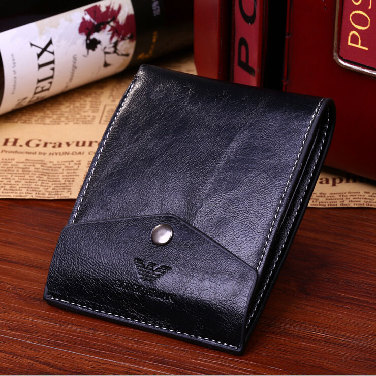 Vintage Style Men's PU Leather Luxury Business Wallet Fashion Men Long Purse Casual Card Holder Black Brown BG301 - Melody Super Supplier store