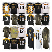 2016 #10 Martavis Bryant,#11 Markus Wheaton,#12 Terry Bradshaw,#14 Sammie Coates men women youth Jerseys Black White Green M-4XL(China (Mainland))