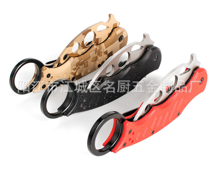 New Arrival Hot Fox Karambit Knife Training Trainer Folding blade knife Outdoor gear EDC Pocket Best Gift Tool Knife(China (Mainland))