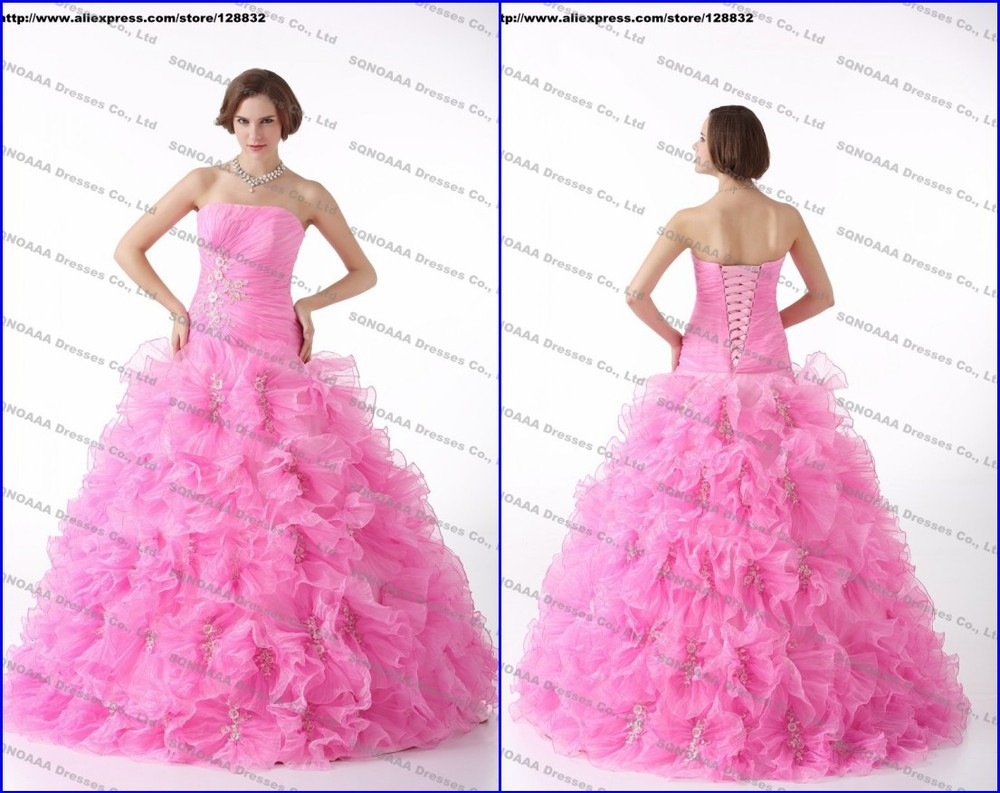 real photo new 2013 hot pink quinceanera dresses sweet 15