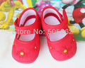 11 CM loverly pair Baby first walkers embroidered flower Baby Shoes girls Soft Sole SIZE 12