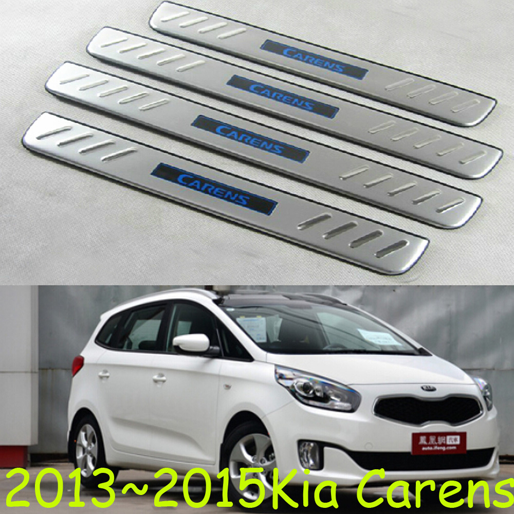 2013~2015 Kia Carens SUV LED door sill,foot pedal,decoration scuff plate guards,4pcs/set,stainless steel,Free ship!<br><br>Aliexpress