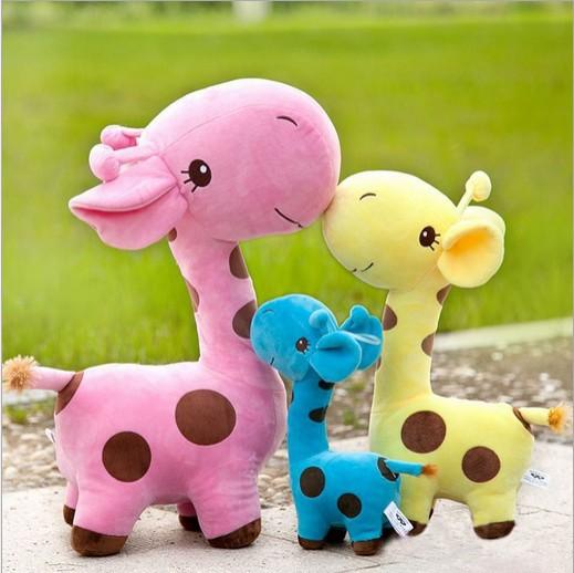 Retail 1PC 38cm Baby Toy Giraffe Plush Toys Stuffed Animal Dolls Toys Gift For Kids ZZ2904(Hong Kong)