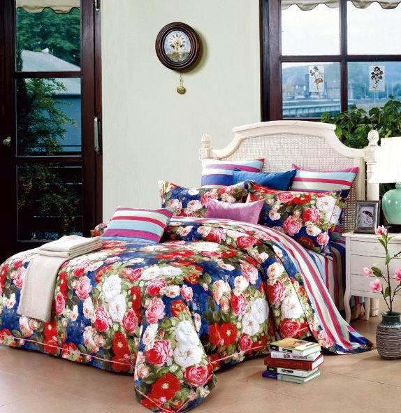 Compra edredones de lujo colchas online al por mayor de for Sabanas para cama queen size