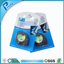 12mm*4m black on white dymo paper LT label tape 91200  DYMO LetraTag Label Tape DYMO label printer