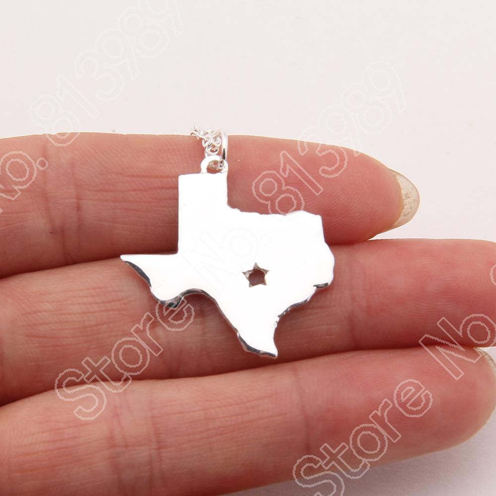 10pcs Texas State Necklace Texas Longhorns Dallas Cowboys Necklaces & Pendants Delicate Gold Choker Necklace Women Necklace(China (Mainland))