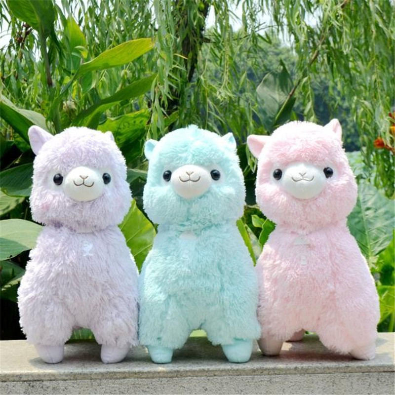 45cm Japanese Alpacasso Soft Toys Doll Giant Stuffed Animals Lama Toy 5 Colors Kawaii Alpaca Plush Kids Christmas Gift L101(China (Mainland))