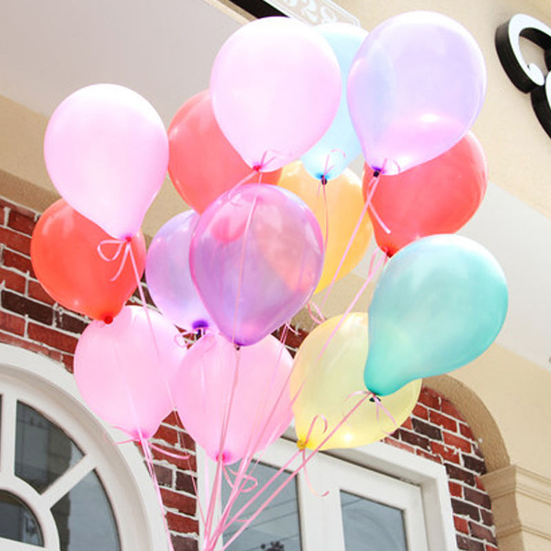 100 Pccs 10 inch PLAIN LATEX BALLOONS Party Wedding Birthday DecorationsChristmas Gift(China (Mainland))