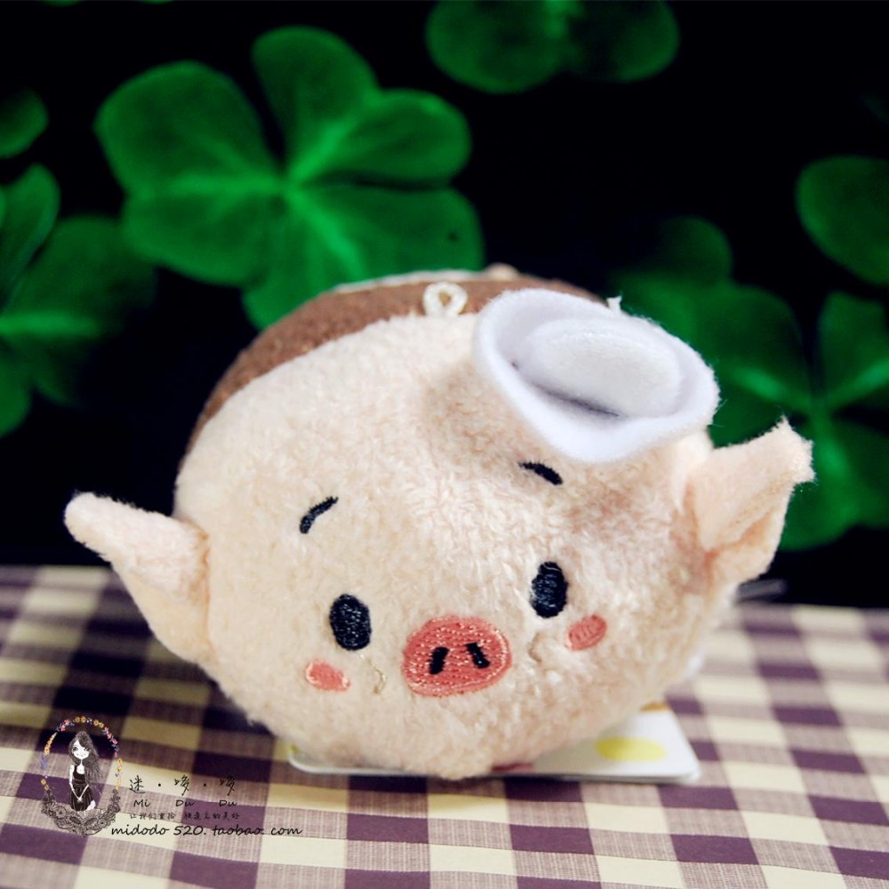 Tsum Tsum Three Little Pigs and Timber Wolf mini Plush Toy cute Plush Doll Toy For Children Gift(China (Mainland))
