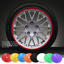 Buy Car Wheel Protector Hub Sticker 8M/Roll Car Decorative Styling Strip Rims blade Tire Protection Auto Accessories for $6.49 in AliExpress store