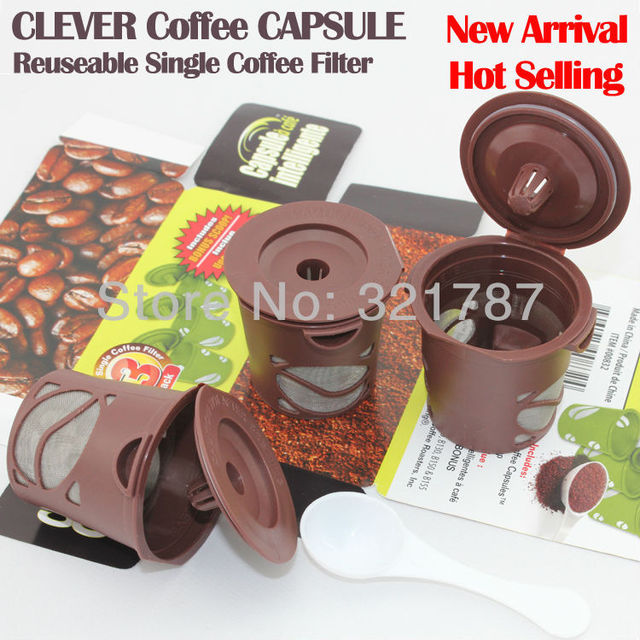 New Arrival Wholesale Clever Coffee Capsule Reuseable Single Coffee Filter 100% BPA Free Kichin Keepers Free Shipping