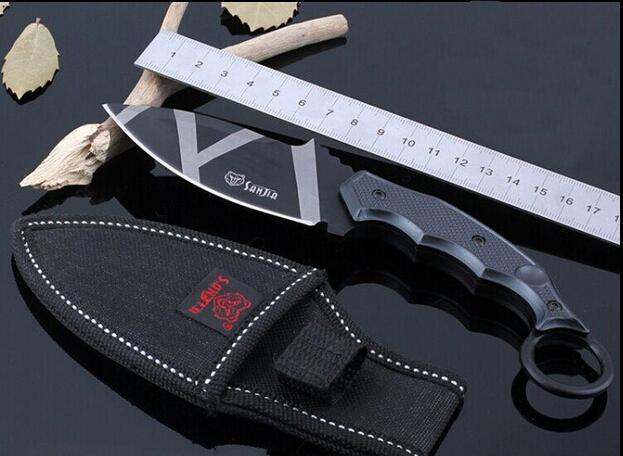 440 Steel Fixed Blade Knife Tactical Karambit Knife Military Camping Knives Hunting Knife 21CM Length(China (Mainland))