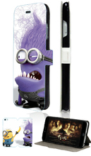 hybrid retail Despicable Me 10designs Hot selling mobile phone bag luxury card wallet leather cases for IPHONE4 4S free shipping
