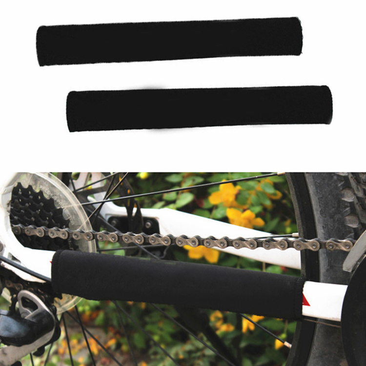 Protable Bicycle Chain Protector Cycling Mountain Bike Retaining Chain Attached Velcro Color Random Bicycle Accessories CYC