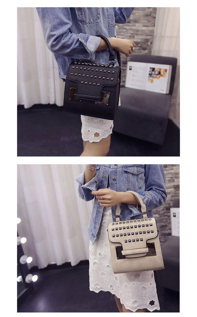 MINI Bag 2016 New Fashion Handbag Trendy Rivets-studded Flap Bag Korean Style Designer Shoulder Bag Chic Small Crossbody Bag