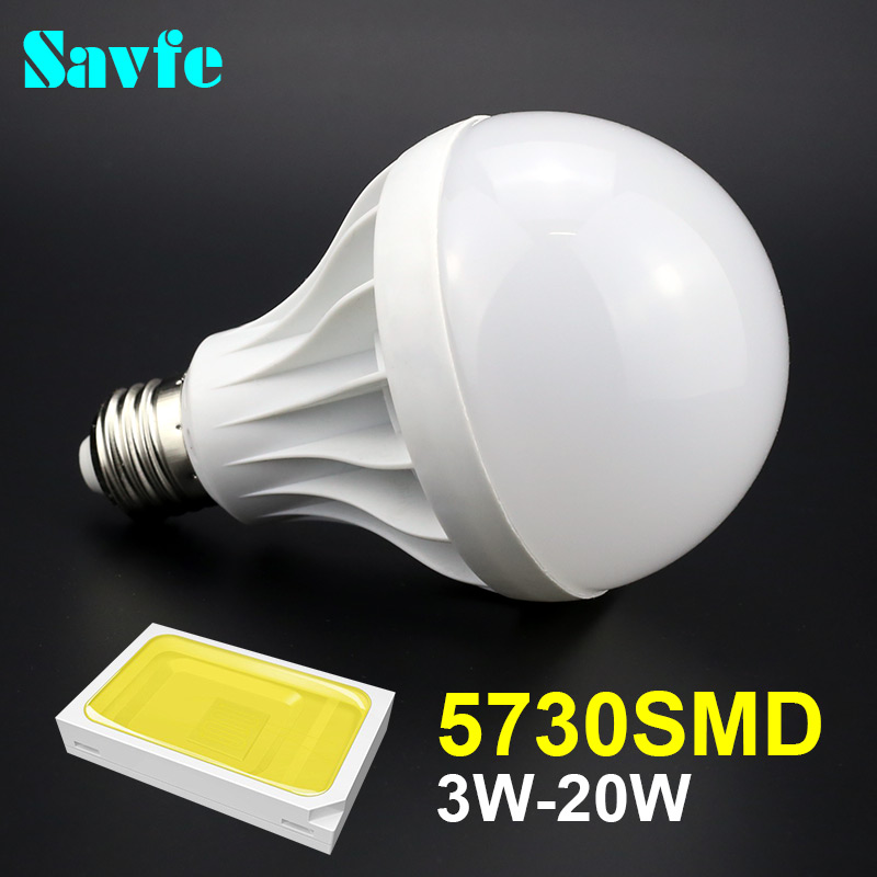 E27 Led Lamp 3W 5W 7W 9W 12W 15W 18W 20W 220V 110V 240V E27 Bulb E14 Light SMD 5730 Led Spotlight Light Warm Cool White Led Bulb(China (Mainland))