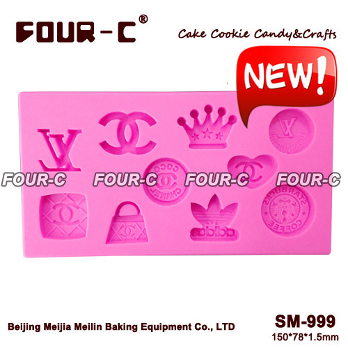 2015 Brand LOGOS fondant cake design mold,silicone gumpaste art mold,baking tools,mold mould,silicone cake tools free shipping(China (Mainland))