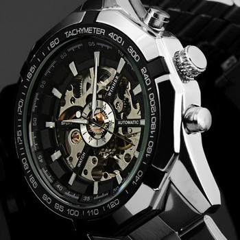 NEW  Mens  Steampunk Clock Automatic Mechanical Watch  Men Wristwatch for 2015
