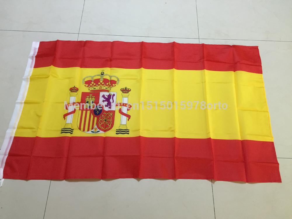 New fashion 90*150 cm Spain Flag Office/Activity/parade/Festival/Home Decoration 3x5 feet 10pcs /lot(China (Mainland))