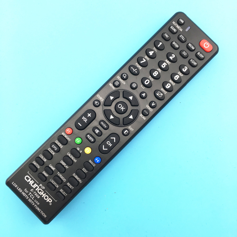 1PCS Universal Remote Control E-ct908 For TCL Use LCD LED HDTV 3D SMART TV Function New chunghop brand remote controller(China (Mainland))