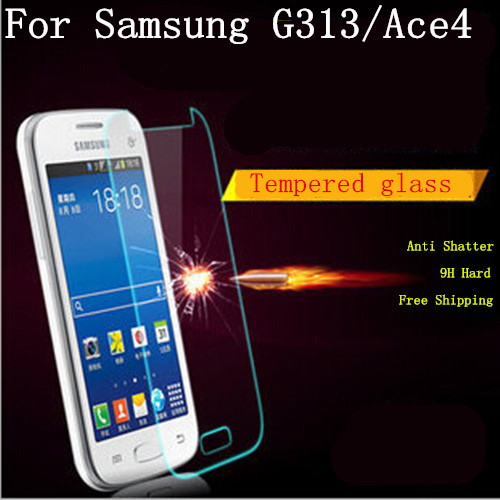 For Samsung Galaxy Ace 4 G313H G313 0.26mm Anti-scratch Tempered Glass 9H Hard Film 1pcs/lot free shipping(China (Mainland))