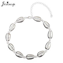 Jisensp 2019 Ethnic Vintage Shells Charm Necklace for Women Handmade Adjustable Beaded Chokers Necklace Holiday Gift bijoux(China)