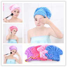 Women Girls Lady's Magic Quick Dry Bath Hair Drying Towel Head Wrap Hat Cap