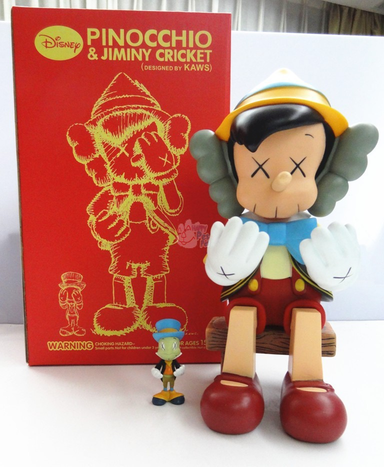 High Quality Original Fake KAWS Pinocchio Puppet Resting Sitting Type 23cm Viny Pvc Resin Action Figures Fashion Toys(China (Mainland))