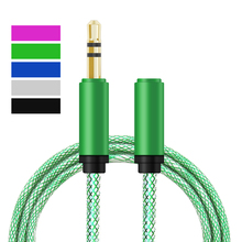 Buy Universal 3.5 mm Jack Aux Audio Cable male female Extension Audio Stereo 1M Cables cord Samsung iPhone Mp3 Mp4 for $1.05 in AliExpress store