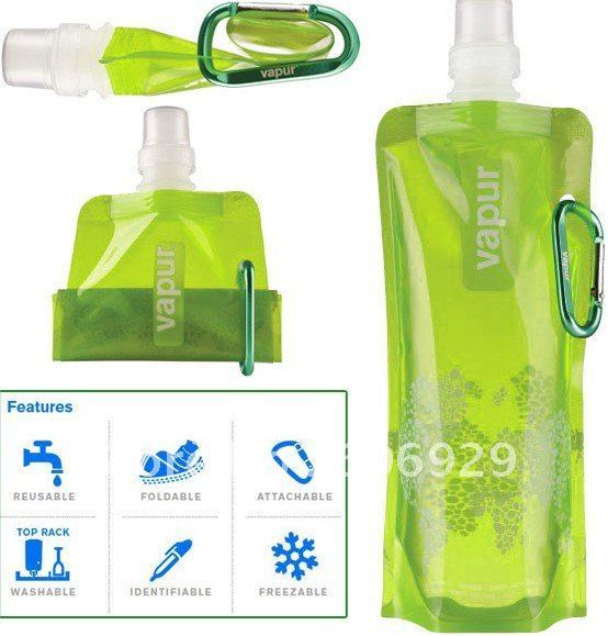 low price 480 ml Travel portable folding bottles/water cup /guaranteed Newest foldable water bottle