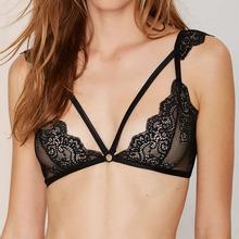 Lace Unlined Bralette Triangle Cups Bra Fashion Cutout Brassiere Cute Wireless Bralet  Sexy Underwear Intimate