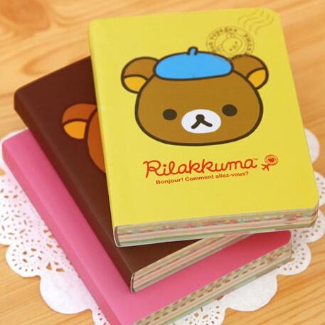 Гаджет  Minimum order $10(Mix order)Free Shipping/NEW cute cartoon rilakkuma style DIY MINI Notebook/Notepad Memo/Diary None Офисные и Школьные принадлежности