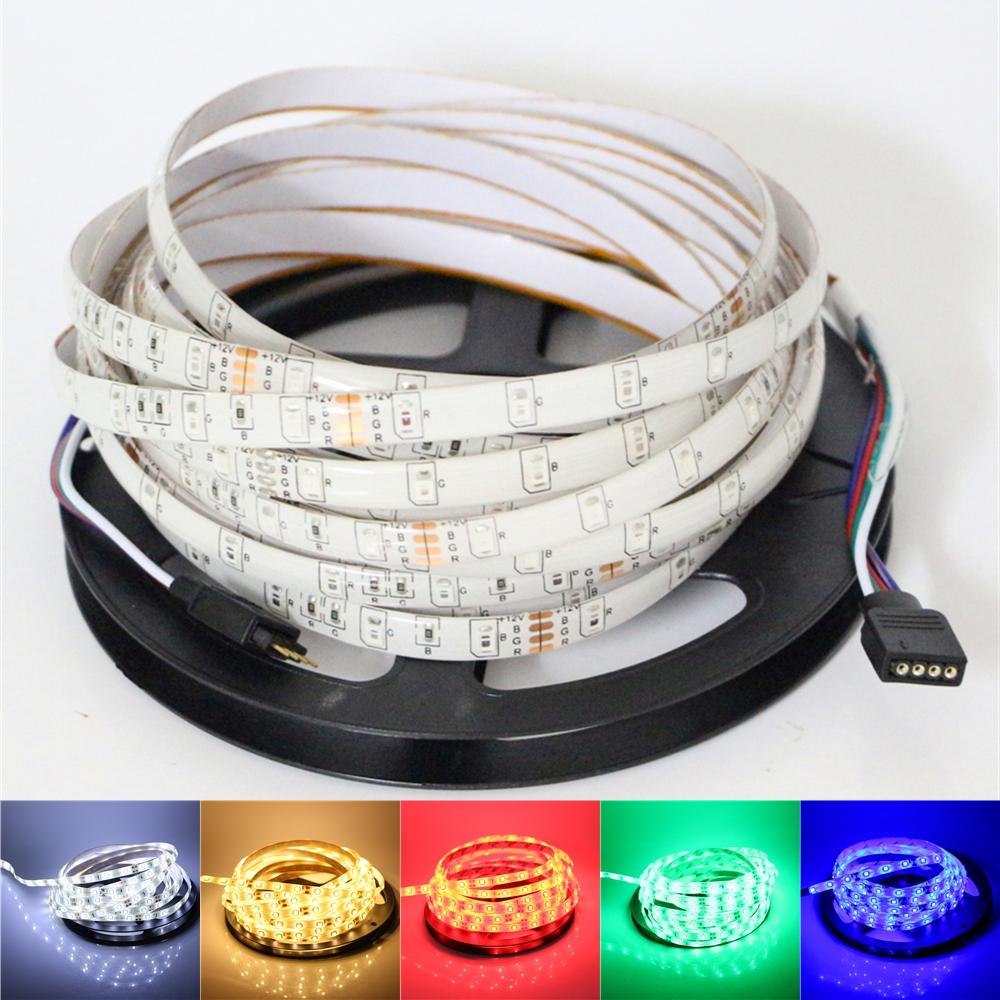 12v 2835/3528 smd led strip light 1m 5m 60led/m ip65 waterproof / ip20 non-waterproof flexible led rope tape ribbon string lamp(China (Mainland))