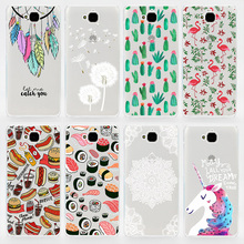 TPU Soft Case For Huawei Y6 Pro Transparent Ultra-Thin Silicone Colorful Printing Drawing Phone Cover For Huawei Y6