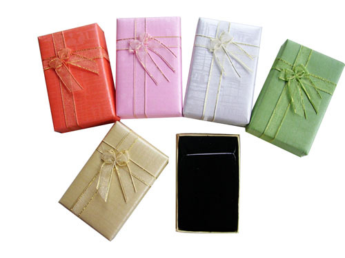 6 8.5*5.3*2.5CM Mix 5 colors Necklace Box Earring Ring Jewelry Packaging Gift Set - Ningbo Huahui Co.,ltd store